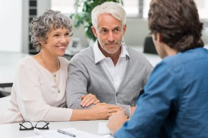 A couple discussing Estate Planning