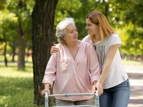 Daughter is caregiver for elderly mother