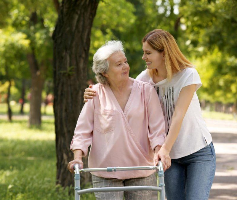 Daughter is caregiver for elderly mother
